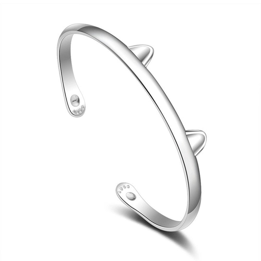 Wnakeli Open Bracelet Bangle Woman Bracelet Jewelry Ideal for Birthday Gift Friendship Valentine Anniversary or Daily Wearing 1Pcs