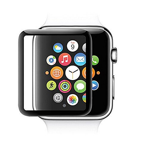 GEMYON Compatible with iWatch 42mm Screen Protector,Tempered Glass Screen Cover for iWatch Series 1 2 3 Full Coverage 3D Curved, 0.26mm Ultra-Thin Cystal Clear Hard Cover Anti-Scratch Bubble Free