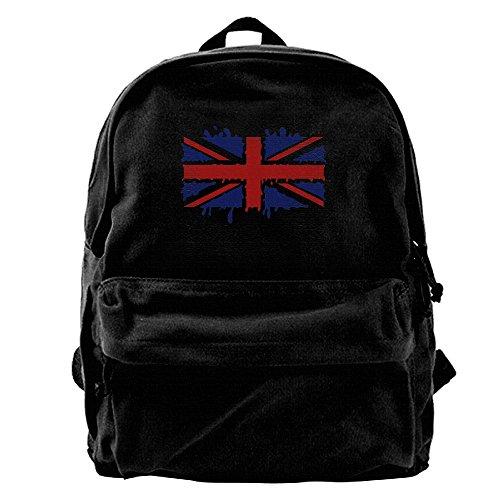 Watercolor British Flag Canvas Backpack Travel Rucksack Backpack Daypack Knapsack Laptop Shoulder - To Ship Brazil Usps