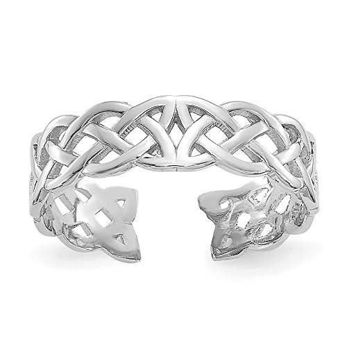 Celtic Toe 14k Ring (Celtic Knot Toe Ring in 14K White Gold)