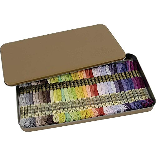 DMC 117ZA w Collector's Tin with 35 Colors Floss,