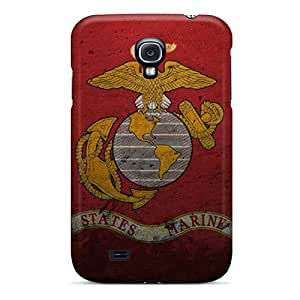 New Snap-on JohnRDanie Skin Case Cover Compatible With Galaxy S4- Usmc Grunge Myspace Backgrounds