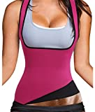Womens Sauna Burning Tank Top Hot Sweating Neoprene Body Shaper Vest for Tummy Waist Hourglass (M, US 8-10, Pink)