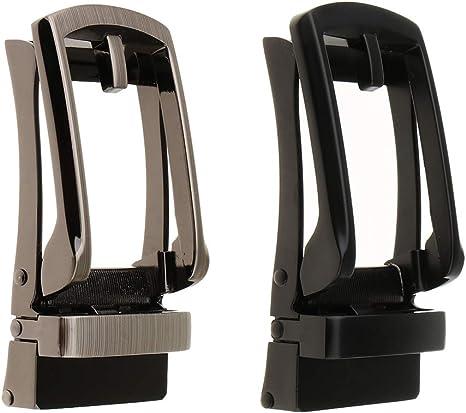 Men/'s Automatic Slide Buckle Replacement Alloy Rectangle Ratchet Belt Buckle