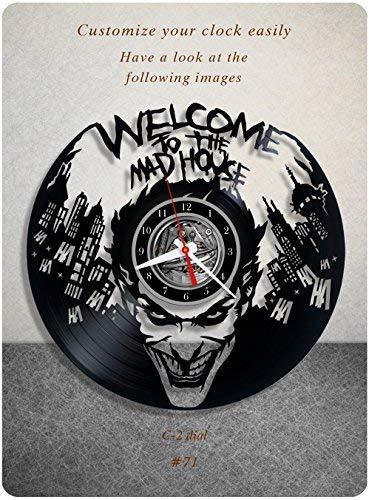 Joker Clock - In Na Joker DC Comics Vinyl Clock, Vinyl Wall Clock, Vinyl Record Clock, Original Gift, Home Decor, Wall Art