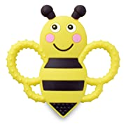 Buzzy Bee Multi-Textured, Soft & Soothing, Easy-Hold, Silicone Teether (BPA Free, Freezer & Dishwasher Safe)
