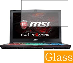 "Synvy Tempered Glass Screen Protector for MSI GE62VR 6RF Apache PRO(006JP) 15.6"" Visible Area Protective Screen Film Protectors 9H Anti-Scratch Bubble Free"