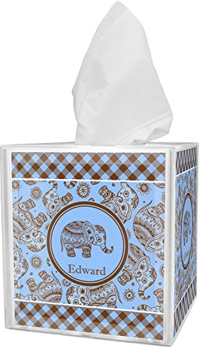 Tissue Cover Box Safari (RNK Shops Gingham & Elephants Tissue Box Cover (Personalized))