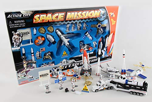 (Space Shuttle with Kennedy Space Center Sign 28 Piece)