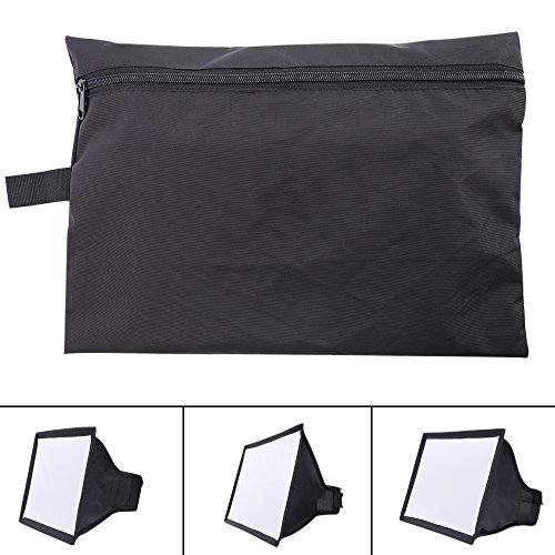 Flash Diffuser Kit - (3 PACK)LITFAD Universal Foldable Flash Diffuser Light Softbox Kit with Rubber ANTI-SLIP Grip and Waterproof Storage Bag for Canon, Yongnuo, Nikon, Sony and DSLR Camera Speedlight