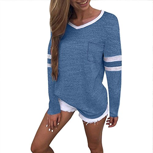 JSPOYOU Womens Tank Tops Fashion Ladies Long Sleeve Splice Blouse Tops Clothes T Shirt