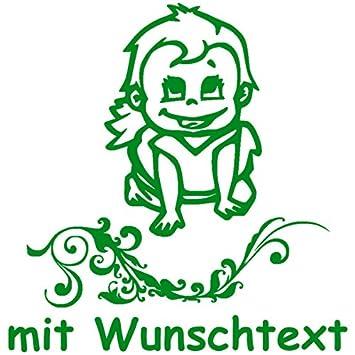 Hoffis Premium Xl Babyaufkleber Mit Name Wunschtext Baby Kinder Autoaufkleber Motiv 1277 25 Cm Farbe Und Schriftart Wählbar Baby