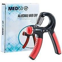 MEDca Hand Exerciser Adjustable Hand Grip Strengthening Exercises Weight Range 22-88 Lbs