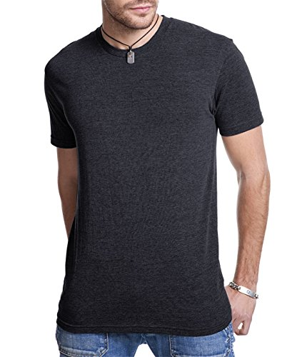 Next Level 6010 Men's Tri-Blend Crew Tee - Vintage Dark Black - (Tri Blend Rib)