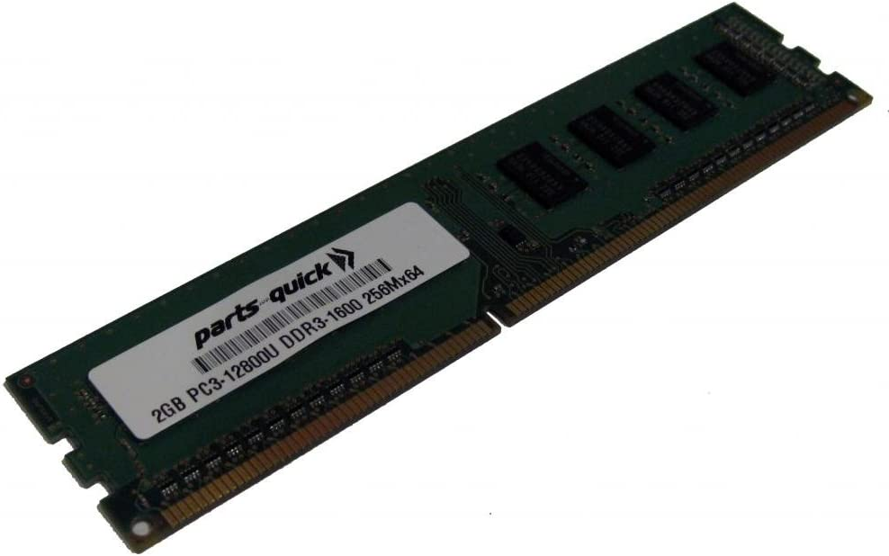 parts-quick 2Gb Memory Upgrade For Msi Motherboard Fm2-A55M-E33 Ddr3 Pc3-12800 1600 Mhz Non-Ecc Dimm Ram (Parts-Quick Brand)