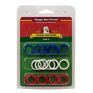 Happy Hen Treats Spiral Leg Bands for Pets, Size 11 82