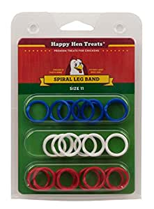 Happy Hen Treats Spiral Leg Bands for Pets, Size 11