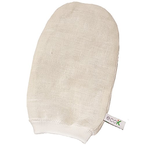 All Natural Hemp Exfoliating Mitt Scrub Massage Glove Eco K Spa & Bath Premium Facial & Body Skin Care