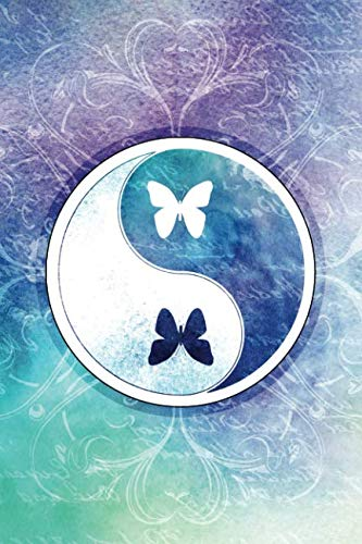 Yin Yang Sacred Butterfly Notebook: Lined Journal Spiritual Watercolor Symbol (Yin Yang Butterfly)