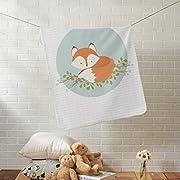 Zazzle Sweet Woodland Fox Baby Blanket