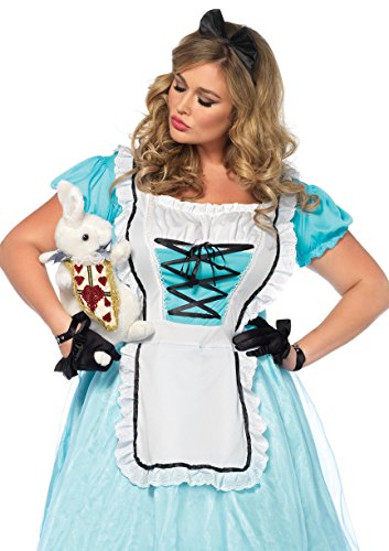 Leg Avenue Women's Plus Size Alice in Wonderland Costume, Blue/White, 3X-4X