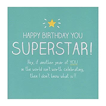 You Superstar Happy Birthday Card Friend Colleague Family For All Amazoncouk Office Products