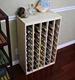 Creekside 40 Bottle Premium Table Wine Rack (Pine) by Creekside - Exclusive 12 inch deep design with solid sides. Hand-sanded to perfection!, Pine