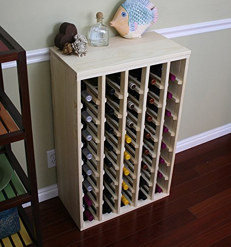 VinoGrotto 40 Bottle Premium Table Wine Rack (Pine) by VinoGrotto - Exclusive 12 inch deep design with solid sides. Hand-sanded to perfection!, Pine
