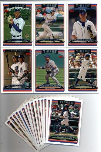 2006 Topps Detroit Tigers Baseball Cards Team Set (21 cards) Verlander