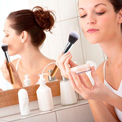 Makeup Brush, ESARORA Premium 22 Pcs Synthetic Foundation Powder Concealers Eye Shadows Silver Black Makeup Brush Sets