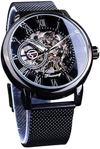 Amazon.com: Forsining Minimalist Retro Design Staempunk Mechanical Skeleton  Wrist Watch Transparent Business Mesh Band Watch: Watches