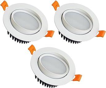 Downlight Led Placa LED Downlight, 5W Blanco Cálido 3000k Foco ...