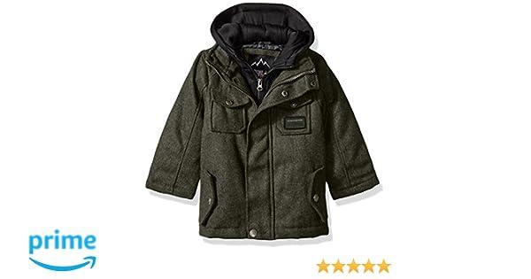 fa001b79d9d2 Amazon.com  iXtreme Boys Wool JKT W Fleece Vestee  Clothing