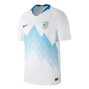Nike 2018-2019 Slovenia Home Football Soccer T-Shirt Camiseta (Kids)