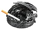 Atlantic Collectibles Smaug Mountain Castle Dragon in Repose Round Cigarette Receptacles Figurine