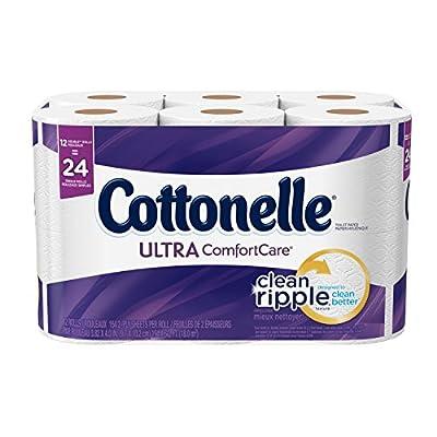 Cottonelle Ultra ComfortCare Toilet Paper, Bath Tissue, 12 Double Rolls