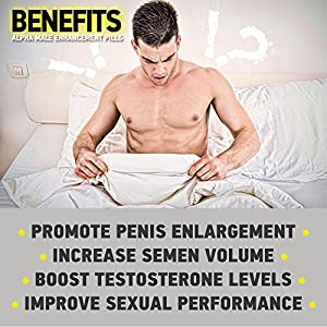 Natural ALPHA Male Enhancement Pills - Penis Enlargement & Sex Performance Vegetable Cellulose Capsule - Testosterone Booster BIG DICK in less than 2 Months – By F*A*N*T*A*S*Y natural male enhancing pills increase size - 51X5OHy6PeL - natural male enhancing pills increase size