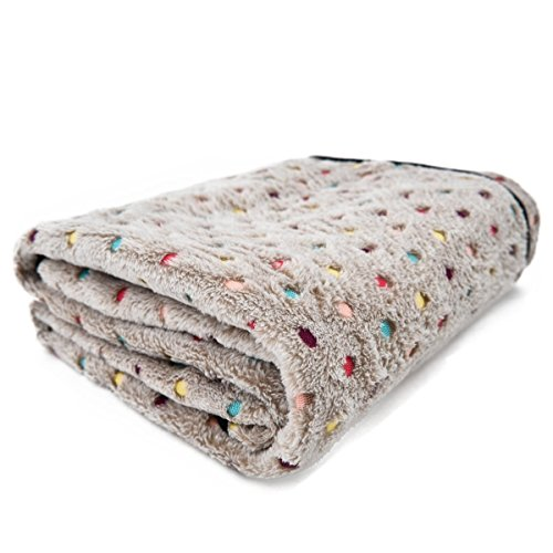 - PAWZ Road Pet Dog Blanket Fleece Fabric Soft and Cute Grey L