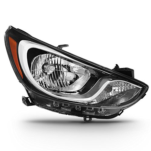 (For [Factory Halogen Model] 2012 2013 2014 Hyundai Accent RB Passenger Right Side Headlight Lamp Direct Replacement )