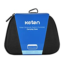 Switch Pro Controller Case – Keten Protective Hard Portable Travel Carry Case Shell Pouch for Nintendo Switch Pro Controller, Also Fits for Xbox One Controller (Black)