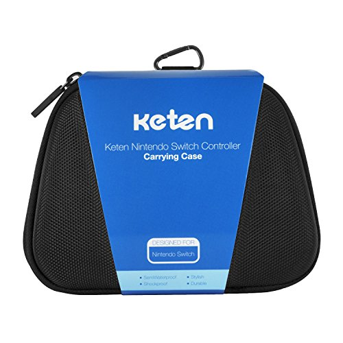 Switch Pro Controller Case  Keten Protective Hard Portable Travel Carry Case Shell Pouch for Nintendo Switch Pro Controller, Also Fits for Xbox One Controller (Black)