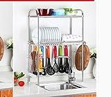 Hyun times 304 Stainless Steel Sink Drainage Rack Bowl Rack Kitchen Utensils Plate Chopsticks Dish Rack Knife Chopping Board Storage Rack
