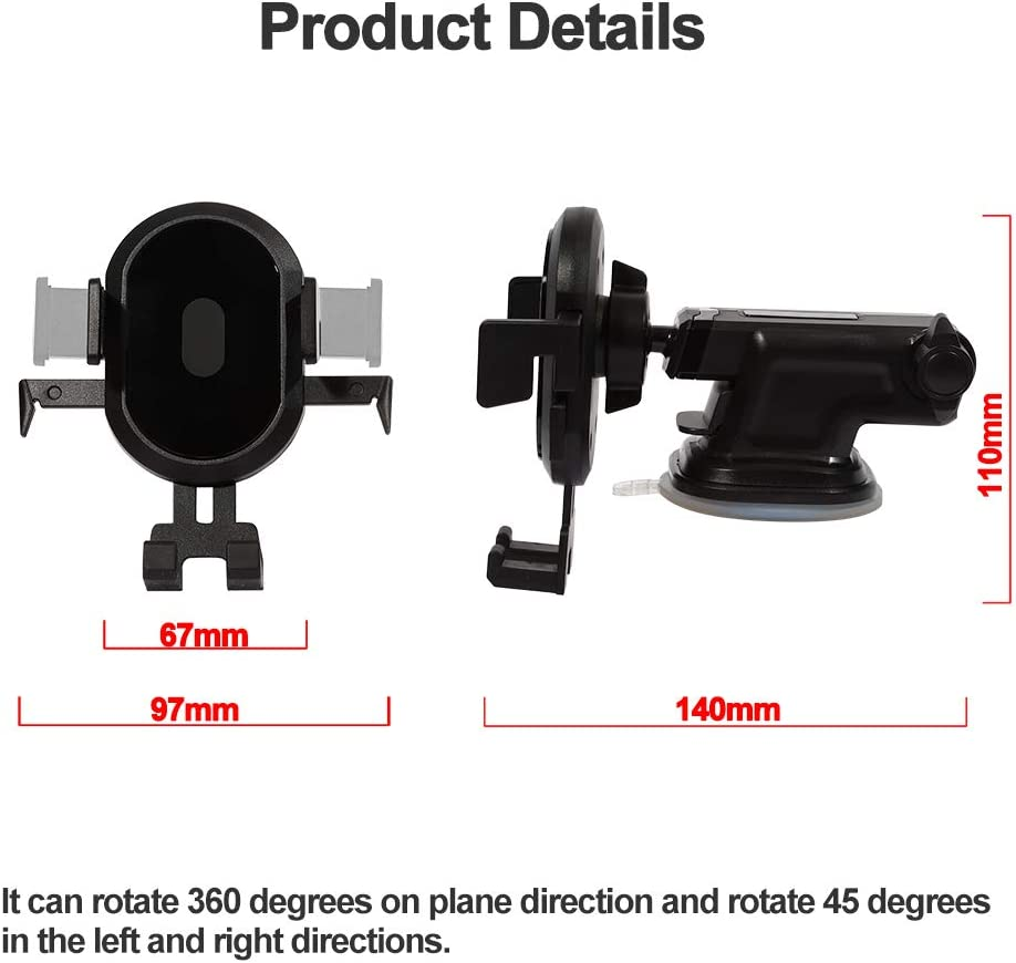 360 Degree Rotation Adjustable Telescopic Rod Universal Dashboard Suction Cup Cell Phone Backet Compatible for 4-6 inch iPhone//Android Phone picK-me Car Phone Mount Holder Windshield