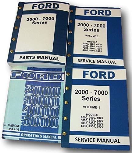 Lot Ford 3000 4000 Series Tractor Service Repair Operators Parts Manuals ()