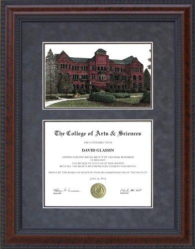 - Diploma Frame with Nebraska Wesleyan University (NWU) Lithograph - 18 x 24 vertical (portrait) diploma