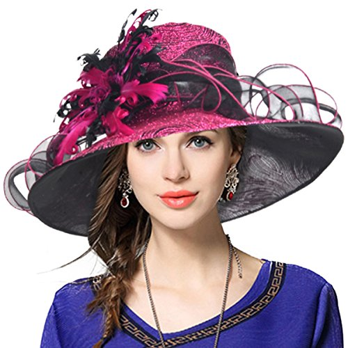 VECRY Ladies's Kentucky Derby Church Wedding Luxury Dress Hat