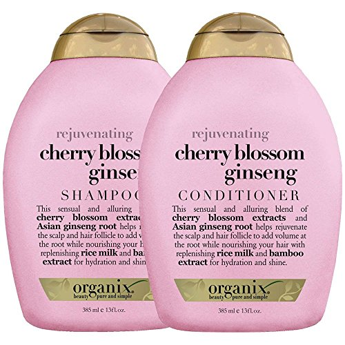 Organix Rejuvenating Cherry Blossom Ginseng Shampoo & Conditioner (13 fl. oz.)