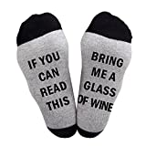 #8: Best Gift Christmas socks Baby Avengers LuLu for Men and Women IF You Can Read This Funny cotton wine Socks