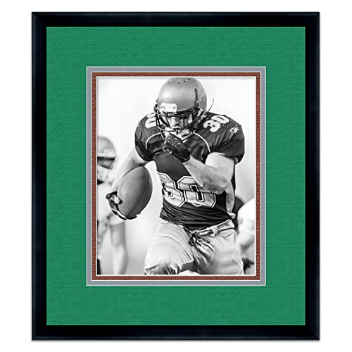 - Philadelphia Eagles Black Wood Frame for a 8x10 Photo with a Triple Mat Midnight Green, Silver, Football Textured Mats