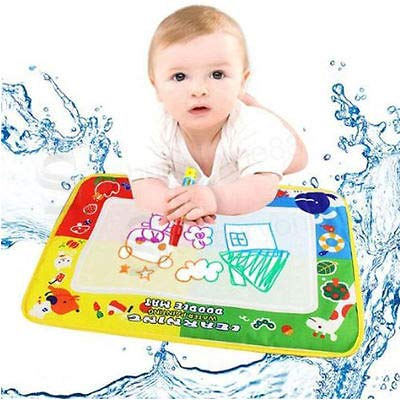 GonPi 1 Piece 29X19cm 4 Color Mini Water Drawing Mat Aquadoodle Mat&1 Magic Pen/Water Drawing Board/Baby Play mat ()